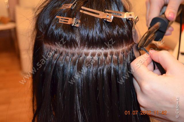 Наращивание волос в алматы